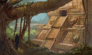 Mayan Temple by thegryph
