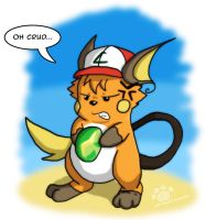 Ash as a Raichu by Coshi-Dragonite