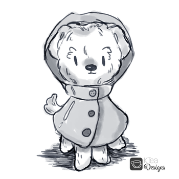 Pupper in a Raincoat Sketch by KqKangaroo