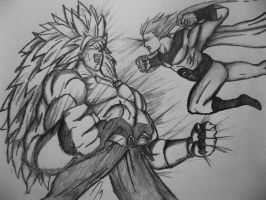 Broly vs Sentry by Marcaloo-Shrimp