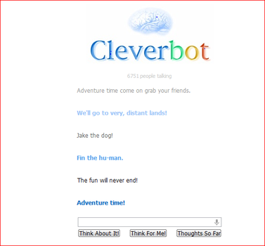 cleverbot-adventure time by bevinlova