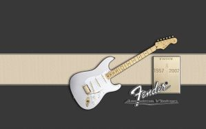 Fender gold birthday by jaidaksghost