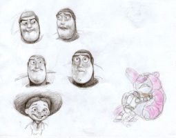 Toy Story caracter studies by rain1940