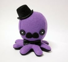 Small purple gentleman octo plushie by jaynedanger