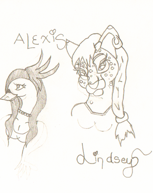 Lindsey and Alexis by Cosmic-Phoenyx