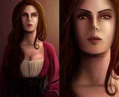 Portrait of a Vampire: Carmilla by VD-Art