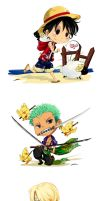 One piece chibis by Ptit-Neko