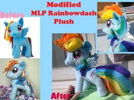 Modified Rainbowdash Plush by methuselah-alchemist