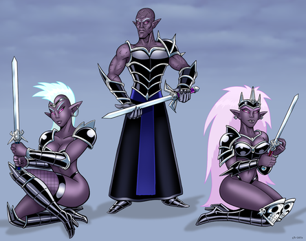 Drow Battlemaster by curtsibling