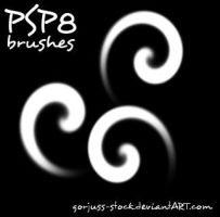 PSP8 blob swirl brushes by gorjuss-stock