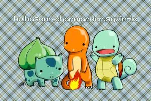 Pokemon - Kanto Starters by lene