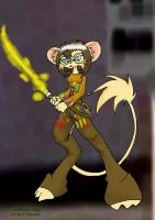 Timid with Artsword by ChaosStone