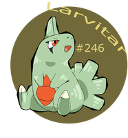 Cave Larvitar by SometimesCats