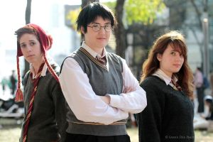 Golden Trio by BlankoCosplay