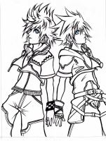 Roxas and Sora by Amelion
