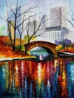 Central Park - New York by Leonid Afremov by Leonidafremov