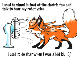 Electric Fan and Angel by Skittles-the-kitty