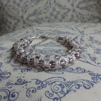 white-pink bling bracelet by were-were-wolfy