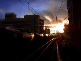 KAMOTSU Train Before sundown by hirolu