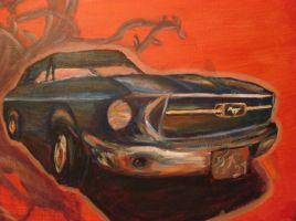 67 Mustang with Love by rockstararts