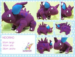 NIDORINO POKEMON PLUSHIE by chocoloverx3