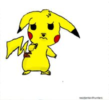 scared Pikachu by ResidentEvilhunters