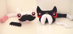 Multiple mustache kittens by loveandasandwich