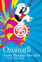 Ozomatli illustration and type by kenji2030