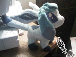 Glaceon Plushie by Whyte-Raven