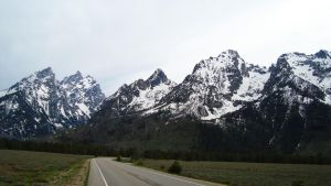The Grand Tetons Road by VisualDiscernment