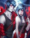 Marshall Lee and Marceline (Adventure Time) by equillybrium