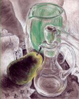Pear and Decanter by mbeckett