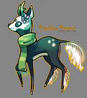 Plushie Concept: Skull faun by RainbowReverie