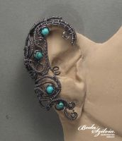 Turquoise ear wrap by bodaszilvia