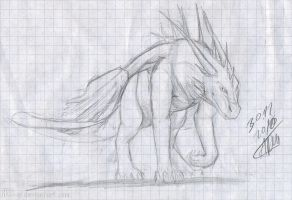10.11.30 Dragon sketch by axe-ql