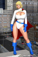 Power Girl 002 by kalevra3D