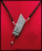 Clouds Buster Sword Necklace by Crazy8zCharmz