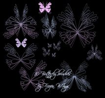Butterfly Brushes 2 by fr0zen-w1ngs