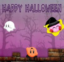 Halloween Kirbys by The-Super-Brawl-Girl
