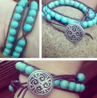 Turquoise wrap pendant by FlutterByye