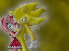 Amy y Super Sonic by MonicaShadowXD