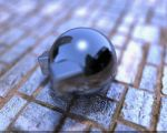 Chromic ball on the ground by CobrA-M