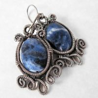 Sodalite and Silver Earrings by sylva