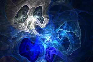 Ghost Fractal Texture Skull Ghostly White Blue Lig by TextureX-com