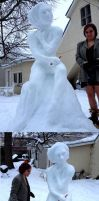 Snow Woman Sculpture by Carliihde