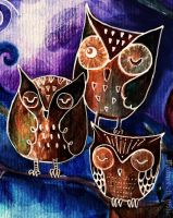 Owls by Night by MademoiselleOrtie