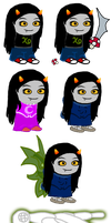 Danela Shribe Sprite Sheet + Lusus by goldenConnpass