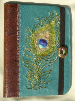 Peacock Feather Embroidered Kindle Cover by SlowMatsu