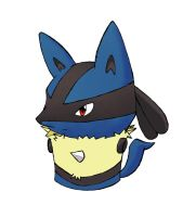 Lucario Cupcake Colored by haiban