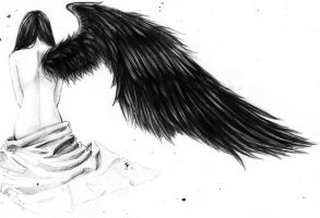 Giant Black Wing by BritishMuffin